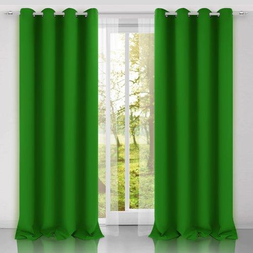 Zasłona gotowa SUNSET 404-25 zieleń trawiasta