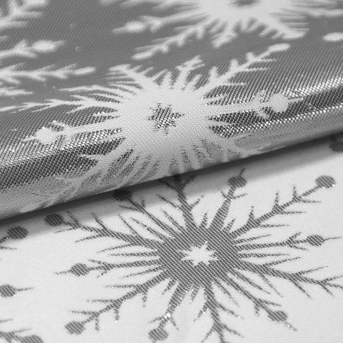 Obrus świąteczny GALAXY STAR SILVER 299-32 biały srebrny