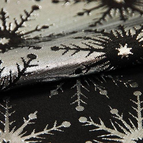 Obrus świąteczny GALAXY STAR BLACK 299-34 srebrny czarny