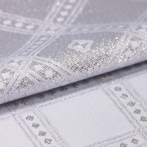 Obrus świąteczny BIEŻNIKI SILVER GLAMOUR 296-32 biały srebrny