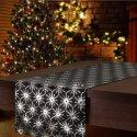 Bieżnik na stół plamoodporny GALAXY STAR BLACK 299-34 czarny