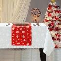 Bieżnik Świąteczny na stół ŚNIEŻYNKA Boże Narodzenie 914-12-01 czerwony