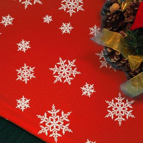 Bieżnik Świąteczny na stół ŚNIEŻYNKA Boże Narodzenie 914-12-01 czerwony biały