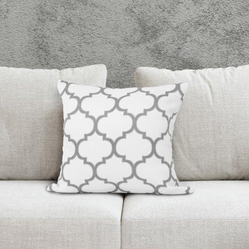 Poszewka dekoracyjna MAROCO 156-01-140 biały szary jasny