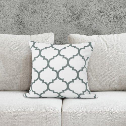 Poszewka dekoracyjna MAROCO 156-01-141 biały szary ciemny