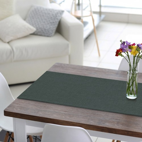 Bieżnik na stół VERONA 177-156 steel grey