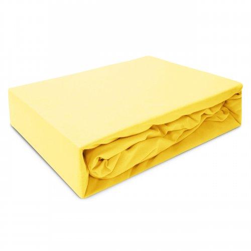 Prześcieradło z gumką JERSEY HOME 195-05 żółty