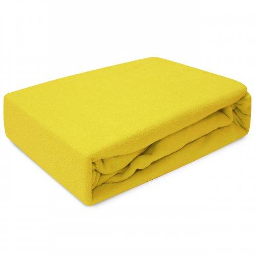 Prześcieradło z gumką FROTTE HOME 194-05 żółty
