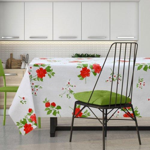 Cerata w czerwone kwiaty na włókninie 600-5734620