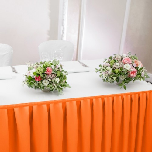 Falbana do stołów GŁADKI STANDARD 404-06 pomarańcz