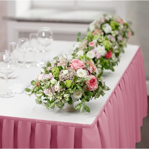 Falbana do stołów GŁADKI STANDARD 404-10 róż blady