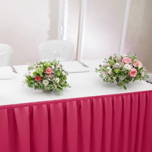 Falbana do stołów GŁADKI STANDARD 404-11 róż mocny