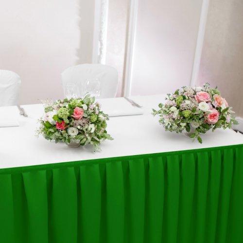 Falbana do stołów GŁADKI STANDARD 404-25 zieleń trawiasta