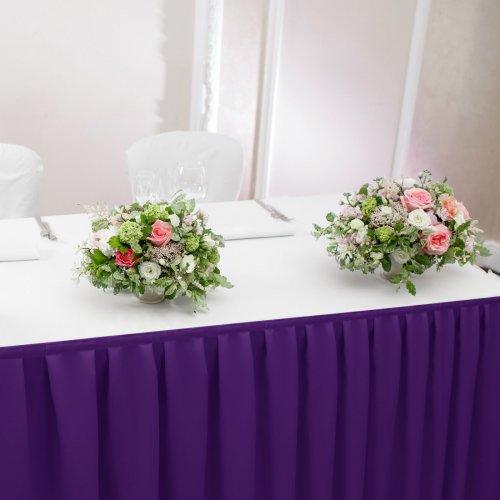 Falbana do stołów GŁADKI STANDARD 404-18 fiolet