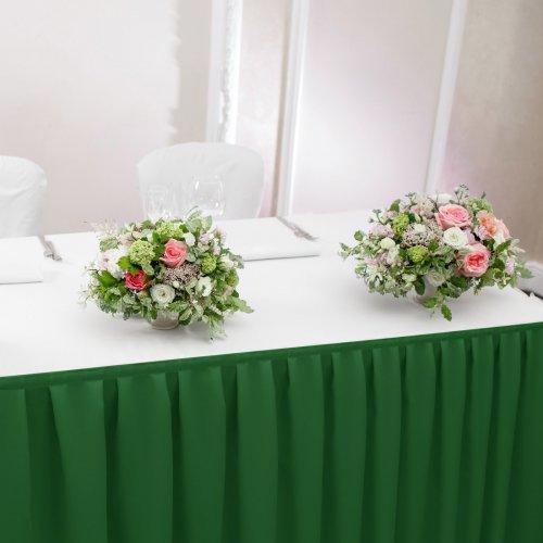 Falbana do stołów GŁADKI STANDARD 404-46 zielony mocny