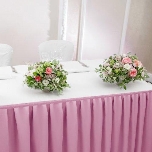 Falbana do stołów GŁADKI STANDARD 404-50 róż jasny