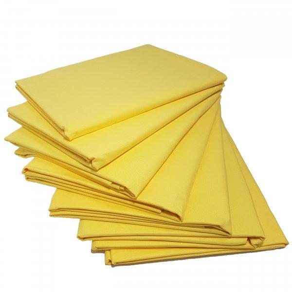 Prześcieradło bawełniane STANDARD 200x220 żółty pastel