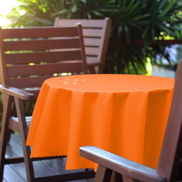 Obrus okrągły OGRODOWY GŁADKI 434-08-06 pomarańcz