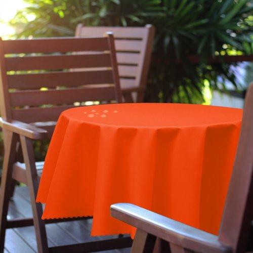 Obrus okrągły OGRODOWY GŁADKI 434-09-39 pomarańcz ciemny