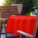 Obrus okrągły OGRODOWY GŁADKI 434-10-99 czerwony jasny