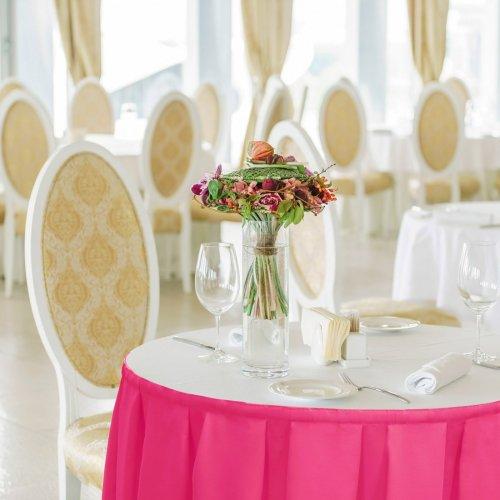 Falbana do stołów GŁADKI GOLD 401-11 róż mocny