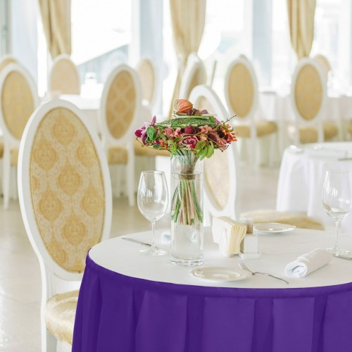 Falbana do stołów GŁADKI GOLD 401-18 fiolet