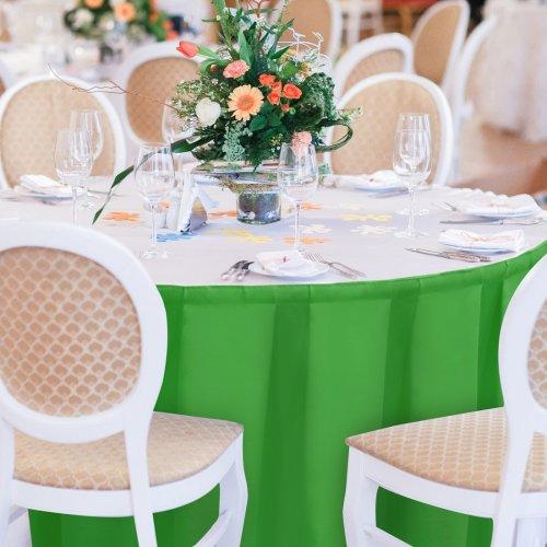 Falbana do stołów GŁADKI GOLD 401-25 zieleń trawiasta