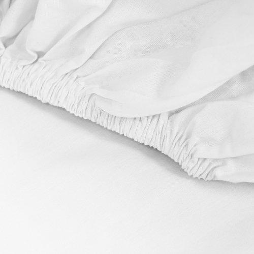 Prześcieradło bawełniane LUKSUSOWE Z GUMKĄ 307-01 białe