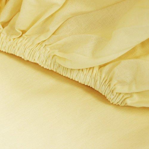 Prześcieradło bawełniane LUKSUSOWE Z GUMKĄ 307-106 kremowe
