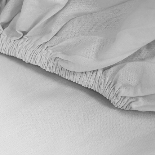 Prześcieradło bawełniane LUKSUSOWE Z GUMKĄ 307-31 szare jasne