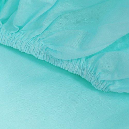 Prześcieradło bawełniane LUKSUSOWE Z GUMKĄ 307-17 turkusowe