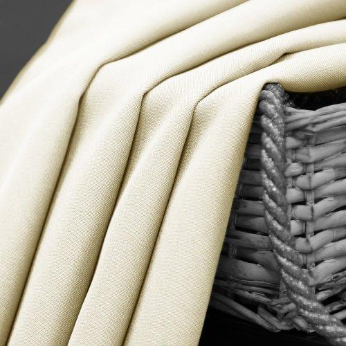Zasłona gotowa na przelotkach SUNSET 404-02 ecru na kółkach srebrnych