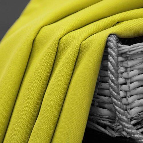 Zasłona gotowa na przelotkach SUNSET 404-21 limonka na kółkach srebrnych