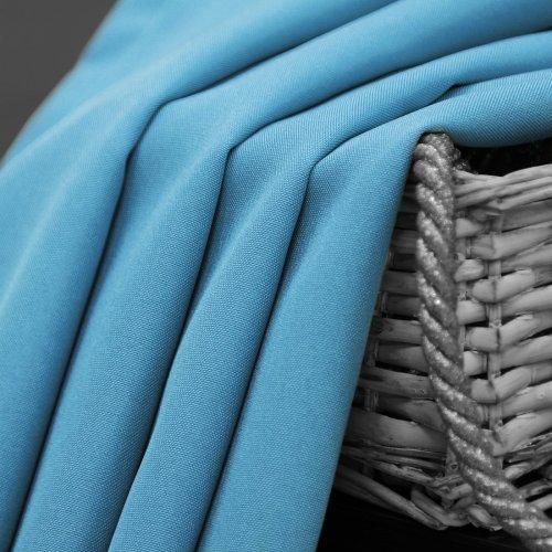 Zasłona gotowa na przelotkach SUNSET 404-14 błękitna na kółkach srebrnych