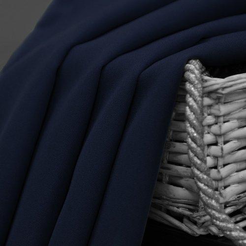 Zasłona gotowa na przelotkach SUNSET 404-16 granatowa ciemna na kółkach srebrnych