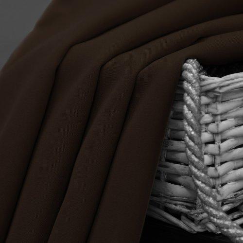 Zasłona gotowa na przelotkach SUNSET 404-29 brąz ciemny na kółkach srebrnych