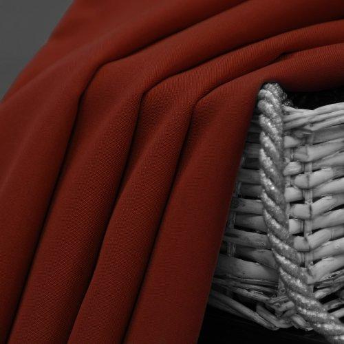 Zasłona gotowa na przelotkach SUNSET 404-30 ruda na kółkach srebrnych