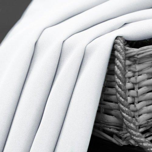 Zasłona gotowa na taśmie SUNSET 404-01 biała na żabki