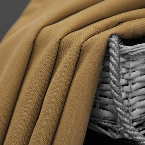 Zasłona gotowa na przelotkach SUNSET 404-03 beżowa na kółkach srebrnych