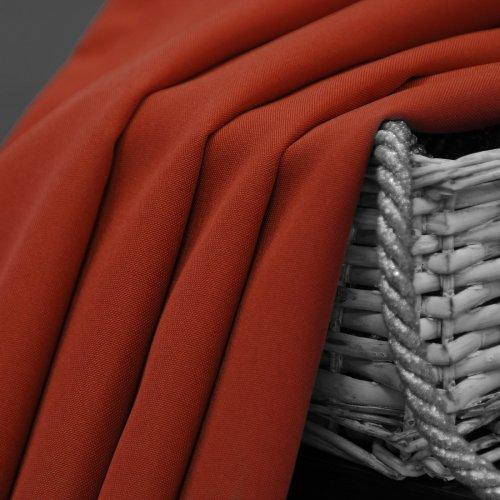Zasłona gotowa na przelotkach SUNSET 404-07 terakota na kółkach srebrnych