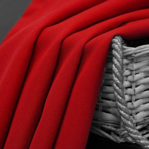 Zasłona gotowa na przelotkach SUNSET 404-12 czerwona na kółkach srebrnych