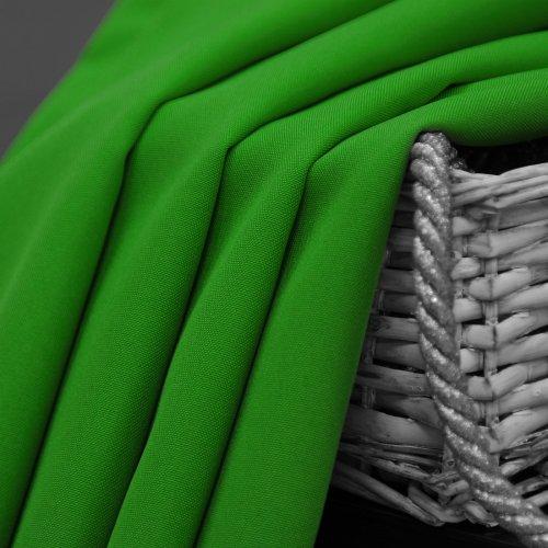 Zasłona gotowa na przelotkach SUNSET 404-25 zieleń trawiasta na kółkach srebrnych