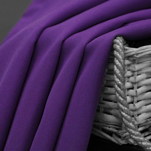 Zasłona gotowa na przelotkach SUNSET  404-18 fioletowa na kółkach srebrnych