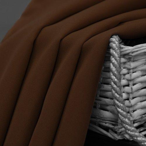 Zasłona gotowa na przelotkach SUNSET 404-28 brąz jasny na kółkach srebrnych
