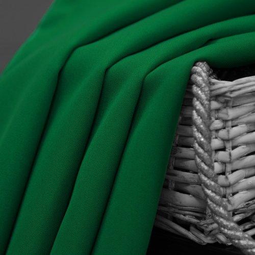 Zasłona gotowa na przelotkach SUNSET 404-46 zielona mocna na kółkach srebrnych