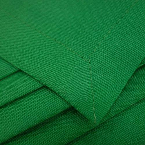 Zasłona gotowa na taśmie HEAVEN zielona mocna na żabki