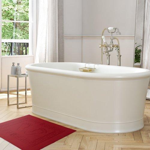 Dywanik łazienkowy ANTYPOŚLIZGOWY 50x70 210-13 bordo