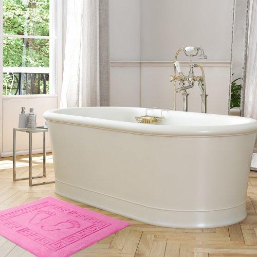 Dywanik łazienkowy ANTYPOŚLIZGOWY 50x70 210-50 róż jasny
