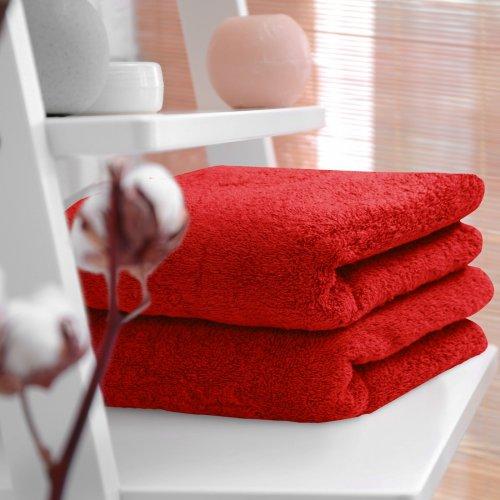 HOTELOWY RĘCZNIK 50x100 czerwony 500GSM