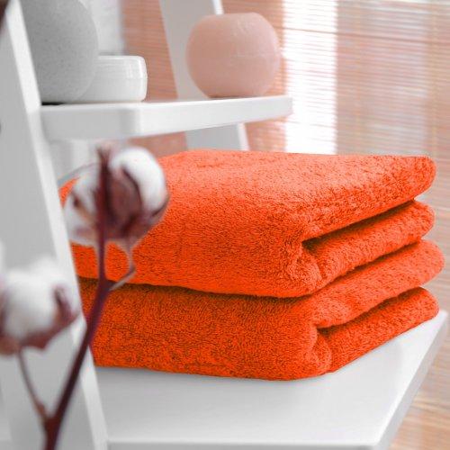 HOTELOWY RĘCZNIK 50x100 pomarańcz 500GSM